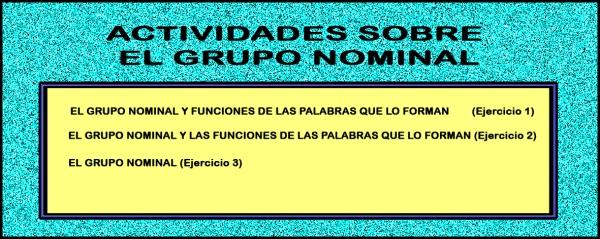 juegos grupo nominal